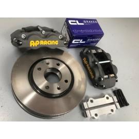 Kit freins AP 4 pistons - disques Ø283mm ep:26mm - plaquettes RC6