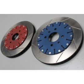 Jeu de disques de frein 106 / 205 / 309 Gr.A Ø315mm x 28mm avec bols alu